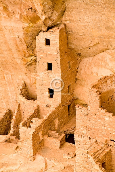 anasazi indians, ancient, buildings, colorado, digital, mesa verde national park, native americans, prehistoric, ruins, square tower house, summer, vertical, western slope, featured