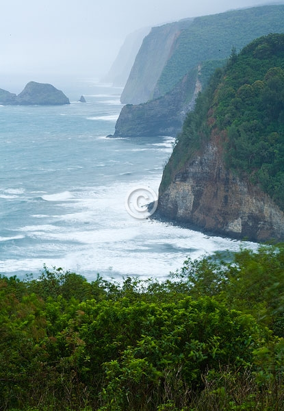 big island, cliffs, digital, hawaii, oceans, pacific ocean, pololu valley lookout, summer, vertical, featured