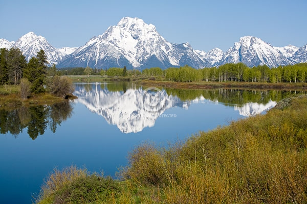 digital, grand teton national park, grand tetons, horizontal, national parks, oxbow bend, reflections, rocky mountains, snake river, snow, summer, wyoming, featured