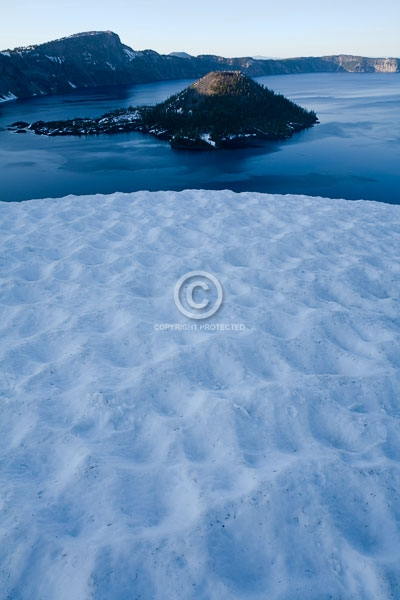 cinder cones, crater lake national park, digital, islands, lakes, national parks, oregon, pacific northwest, snow, summer, vertical, wizard island, featured