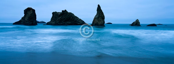 bandon beach, beaches, digital, face rock state scenic viewpoint, horizontal, oceans, oregon, pacific northwest, pacific ocean, rock formations, summer, featured