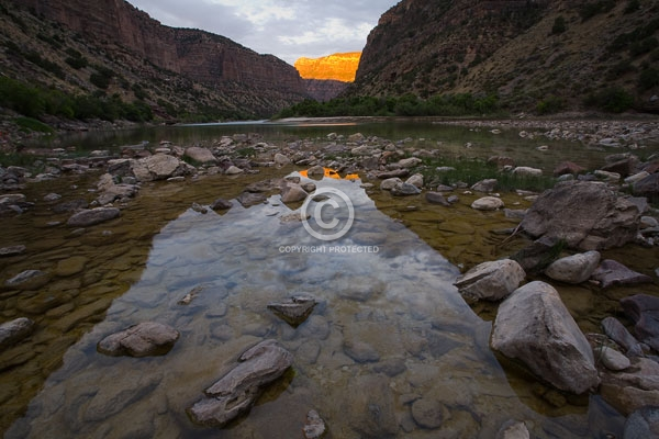 deserts, digital, dinosaur national monument, green river, horizontal, national monuments, reflections, rivers, summer, sunsets, utah, featured