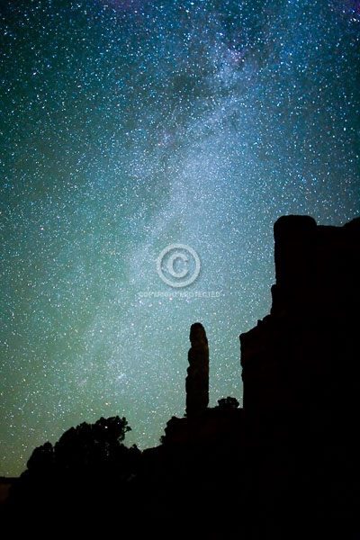 chimney rock, deserts, digital, kodachrome basin stae park, the milky wa, night, rock formations, sand pipe, stars, summer, the milky way, utah
