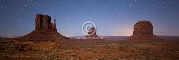 arizona, colorado plateau, deserts, digital, east mitten, horizontal, monument valley navajo tribal park, night, stars, summer, the mittens, west mitten
