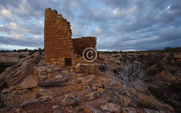 anasazi ruins, colorado, colorado plateau, deserts, digital, horizontal, horseshoe group, hovenweep national monument, indians, national monuments, native americans, prehistoric, summer, tower, featured