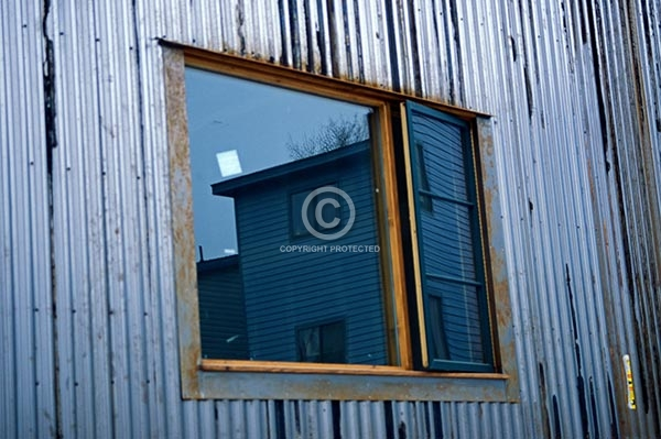 colorado, buildings, horizontal, windows, reflections, ridgway
