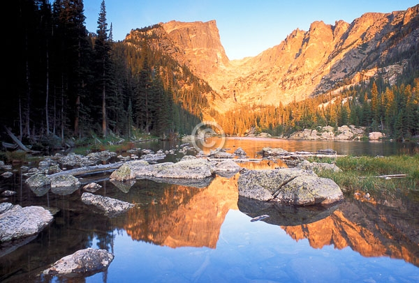 colorado, dream lake, front range, hallett peak, horizontal, lakes, national parks, reflections, rocky mountain national park, rocky mountains, featured