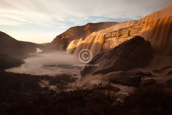 arizona, colorado plateau, deserts, digital, flagstaff, grand falls, horizontal, little colorado river, rivers, summer, waterfalls