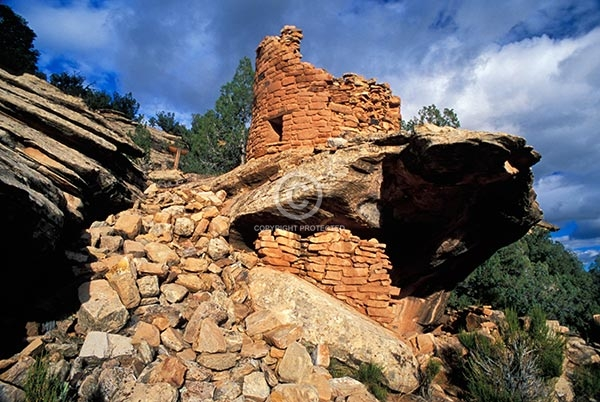 colorado, horizontal, indian, native american, ruins, rocks, anasazi, prehistoric, ancient, canyons of the ancients national monument, painted hand pueblo, buildings, summer, western slope, deserts