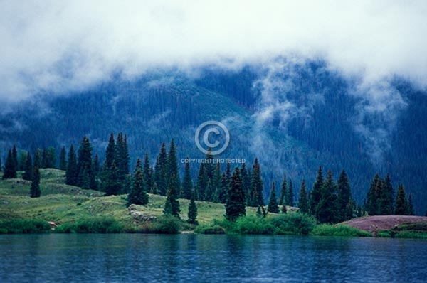 colorado, lakes, ponds, rocky, san juans, summer, mountains, peaks, clouds, horizontal, fog, molas lake, molas pass, featured