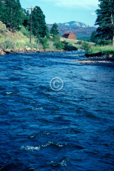 colorado, rivers, summer, vertical, swan hereford ranch, barns, buildings, north fork of the south platte river, rocky mountains