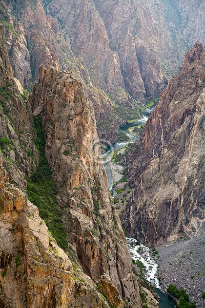 black canyon of the gunnison national park, colorado, gunnison river, the painted wall, canyons, digital, rivers, summer, vertical, featured