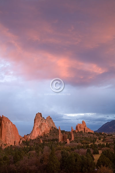 colorado, front range, garden of the gods, autumn, digital, rock formations, sunsets, vertical, colorado springs, featured