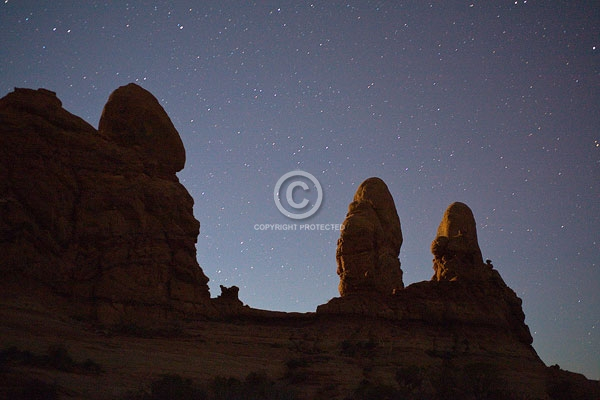 arches national park, moab, utah, autumn, deserts, digital, horizontal, night sky, rock formations, stars